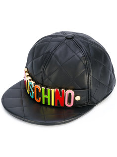 стеганая кепка с логотипом Moschino