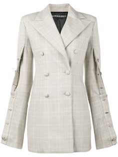 oversized check buttoned blazer Y / Project