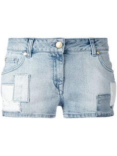 джинсовые шорты с заплаткой с логотипом Pierre Balmain