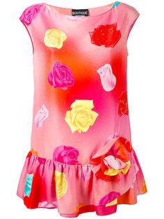 блузка без рукавов с цветочным принтом Boutique Moschino