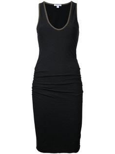 облегающее платье без рукавов James Perse