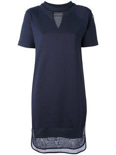 платье с сетчатыми панелями Moncler