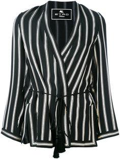 полосатый пиджак с запахом Etro
