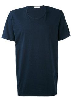 футболка с заплатками на рукавах Paolo Pecora