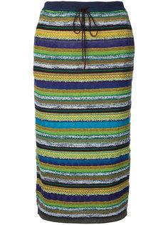 полосатая юбка-карандаш Estnation