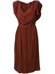 плиссированное платье без рукавов Marni