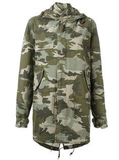 камуфляжное пальто с мехом енота Mr & Mrs Italy