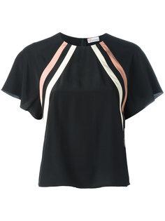 блузка в диагональную полоску Red Valentino