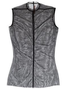 многослойное платье с сеткой Rick Owens Lilies