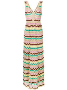 длинное платье с V-образным вырезом M Missoni