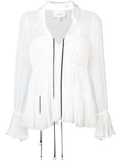расклешенная блузка с V-образным вырезом Cinq A Sept