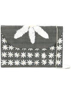 daisy embroidered shoulder bag Serpui