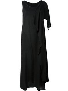 платье шифт с драпировкой на плечах Yohji Yamamoto