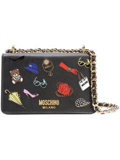 сумка со стикерами Moschino