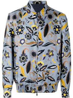 куртка-бомбер с цветочным принтом  Fendi