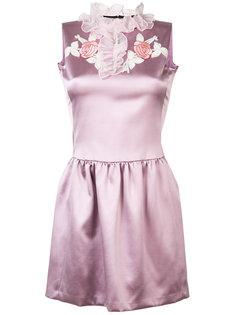 платье с вышивкой и рюшами на воротнике Giamba