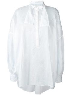 полупрозрачная рубашка с завязкой на горловине  Ermanno Scervino