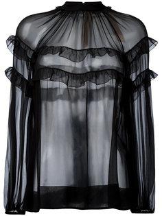 прозрачная блузка с рюшами Nº21