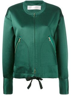 куртка-бомбер с карманами на молнии  Victoria Beckham