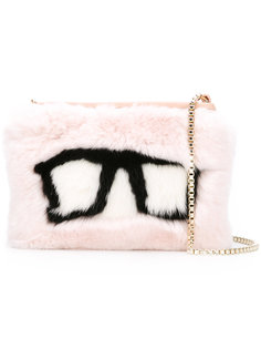 Spectacles embroidered bag Mr & Mrs Italy
