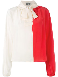 блузка с контрастным бантом  Fausto Puglisi