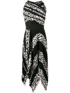 плиссированное платье с прорезями и леопардовым принтом Proenza Schouler