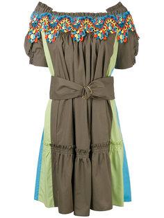 платье с ажурной отделкой и открытыми плечами Peter Pilotto