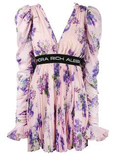 платье с цветочным узором Alessandra Rich