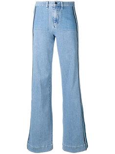расклешенные джинсы с лампасами Victoria Victoria Beckham