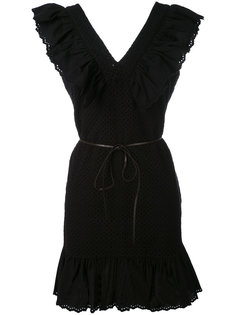 V-neck ruffle dress  Sonia By Sonia Rykiel