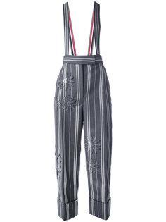 брюки в полоску с подтяжками  Thom Browne