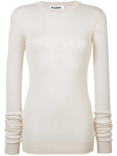 свитер в рубчик Jil Sander