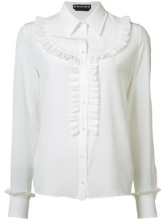 блузка с оборками на груди Rochas