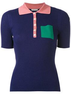 футболка-поло дизайна колор-блок Moncler
