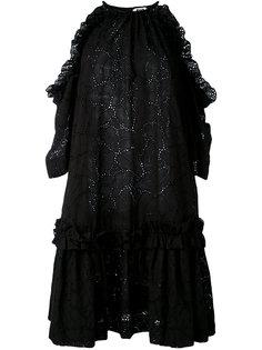 платье шифт с вырезами на плечах MSGM