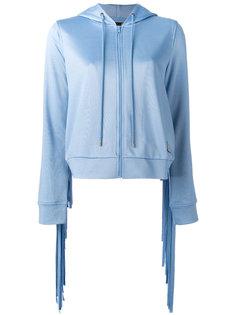 zip knit hoodie Love Moschino
