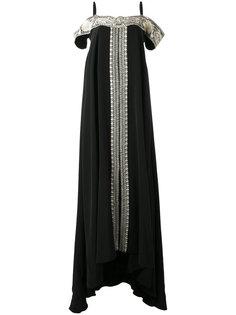 платье с контрастной вышивкой Vilshenko
