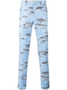 fish print tapered trousers Comme Des Garçons Homme Plus
