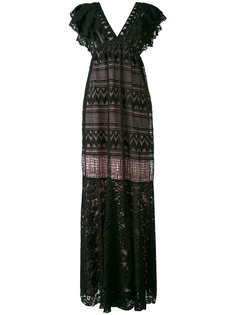 plunge V-neck gown Si-Jay