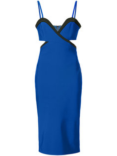 приталенное платье с резным дизайном Mugler
