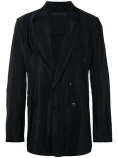 двубортная куртка в полоску Ann Demeulemeester Grise