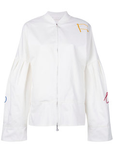 flared sleeve bomber jacket  Water