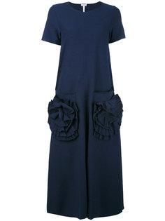 длинное платье-футболка с накладными карманами Loewe