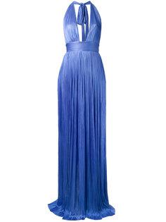 платье с глубоким V-образным принтом  Maria Lucia Hohan