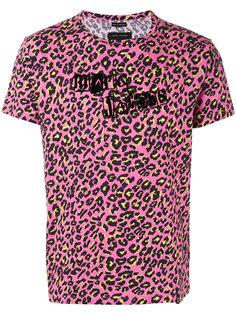 футболка с принтом логотипа и леопардовым узором Marc Jacobs