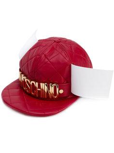 стеганая бейсболка с логотипом Moschino