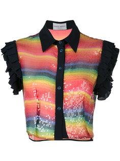 укороченная рубашка с пайетками  Daizy Shely