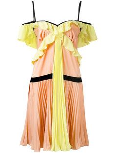 плиссированное платье из жоржета  Marco Bologna