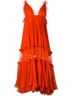 платье макси Mousseline  Maria Lucia Hohan