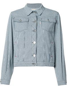 джинсовая куртка в полоску Maison Kitsuné